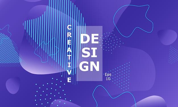 Flüssige formen lila 3d-hintergrund modernes design.