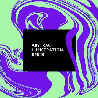 Flüssige kunstmemphis-hippie-störschubelement-illustrationsgraphik