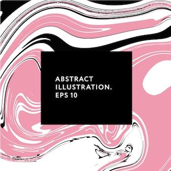 Flüssige kunstmemphis-hippie-störschubelement-vektorillustrationsgraphik
