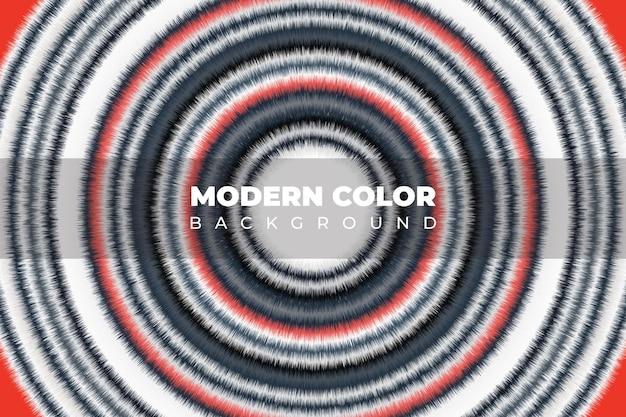 Flüssige textur fließende kunstfarbe weißer und roter kreis