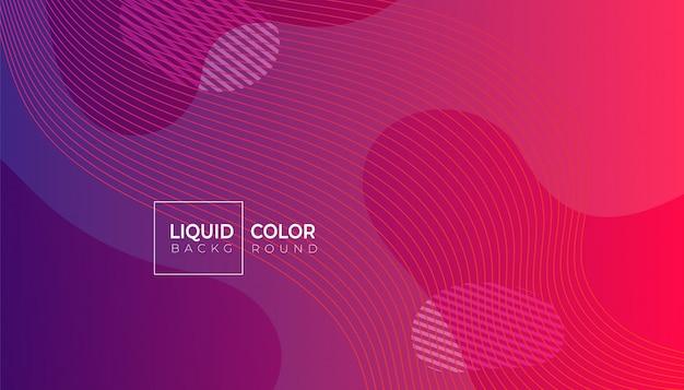 Flüssiger abstrakter geometrischer hintergrund der farbe