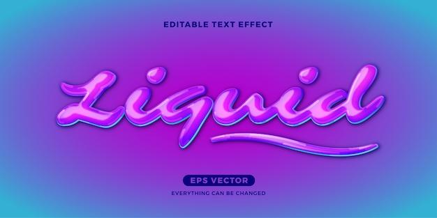 Flüssiger bearbeitbarer texteffekt