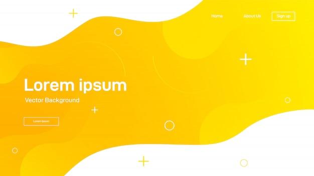 Flüssiger dynamischer hintergrund für websites, zielseiten oder geschäftspräsentationen. abstrakte geometrische tapete.