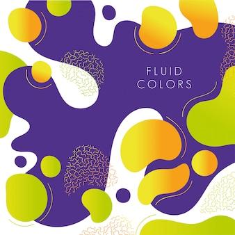 Flüssiger farbhintergrund der purpurroten und gelben farbe