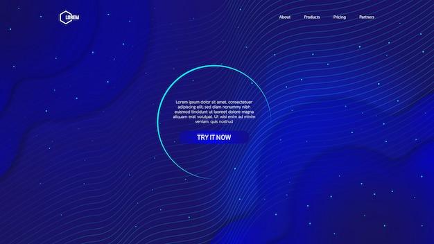 Flüssiger farbhintergrund für landingpage-web