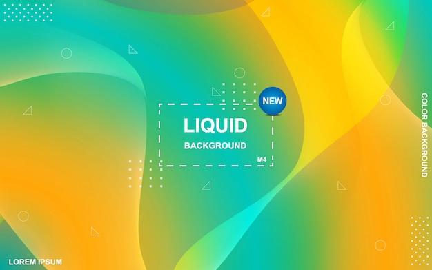 Flüssiger farbiger hintergrund. flüssiger farbverlauf formt die komposition.