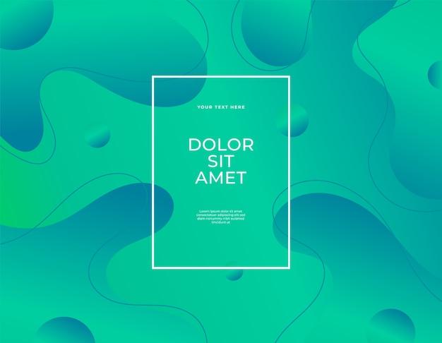 Flüssiger fleck des modernen abstrakten fahnensatzes formt blauen farbhintergrund.