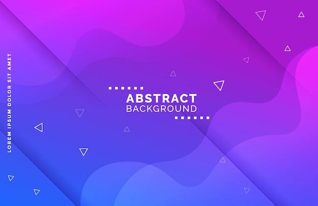 Flüssiger formhintergrund der abstrakten steigung mit dreieckformen