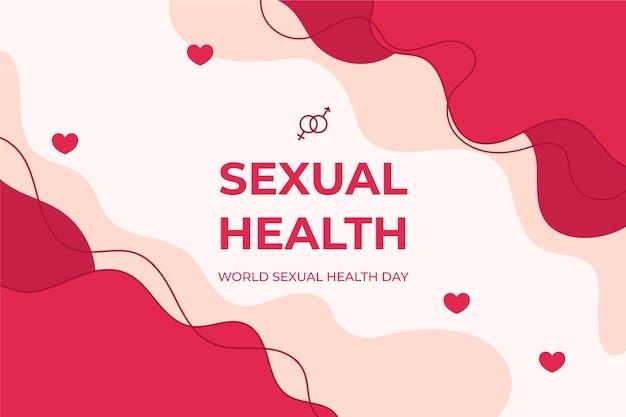 Flüssiger hintergrund des tages der sexuellen gesundheit