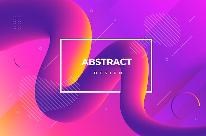 Flüssiger Hintergrund mit abstrakten Formen