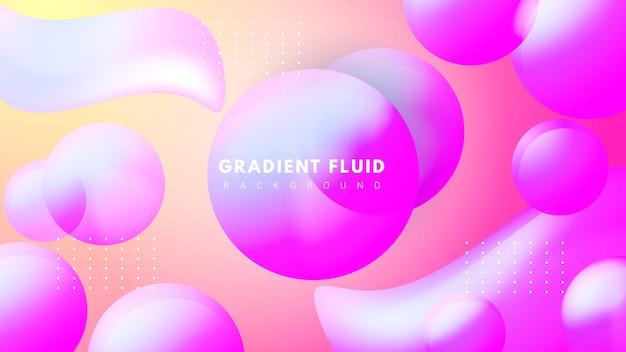 Flüssiger hintergrund mit flüssigem design