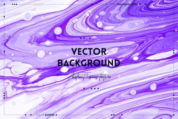 Flüssiger kunsttexturhintergrund mit abstraktem, irisierendem farbeffekt, flüssigem acrylbild, das gemischte farben für den website-hintergrund violettweiß und lavendelfarbene überfließende farben fließt und spritzt