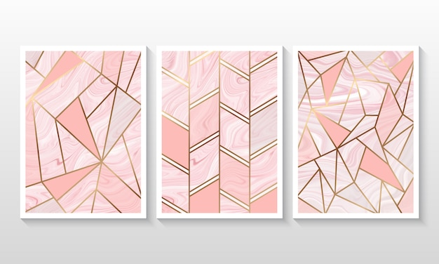 Flüssiger marmorhintergrund mit linie geometrische form
