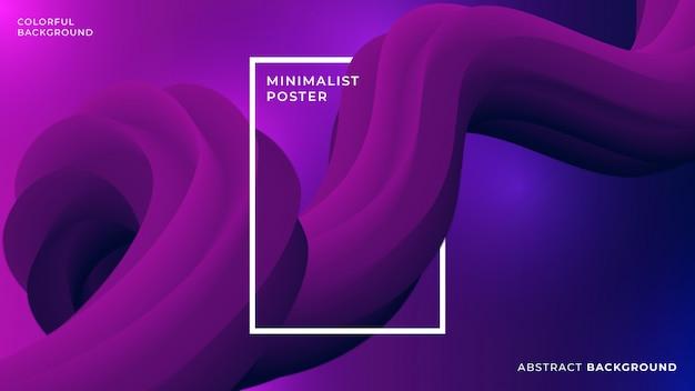 Flüssiger purpurroter abstrakter hintergrund