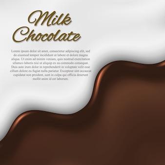 Flüssiger schokoladenhintergrund