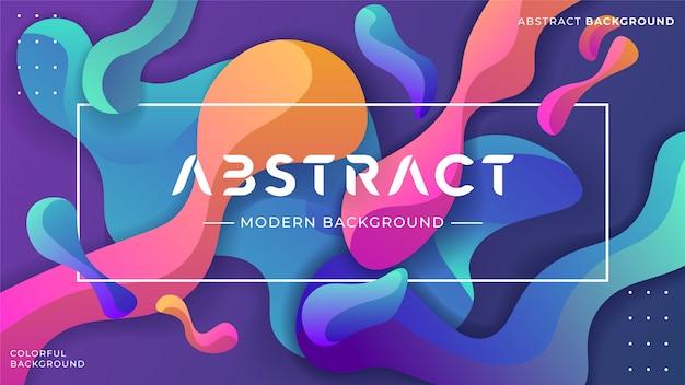 Flüssiges abstraktes hintergrund-design