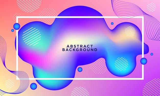 Flüssiges abstraktes hintergrundkonzept