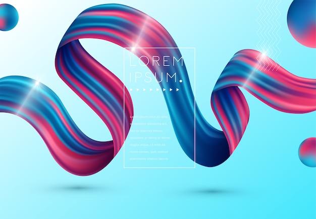Flüssiges farbhintergrunddesign. flüssige steigung formt zusammensetzung