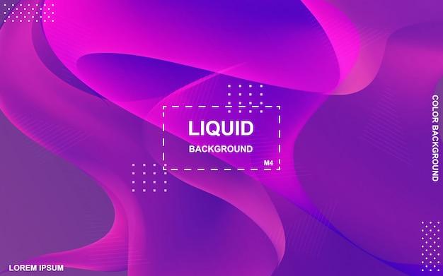 Flüssiges farbhintergrunddesign. flüssiger farbverlauf formt die komposition.