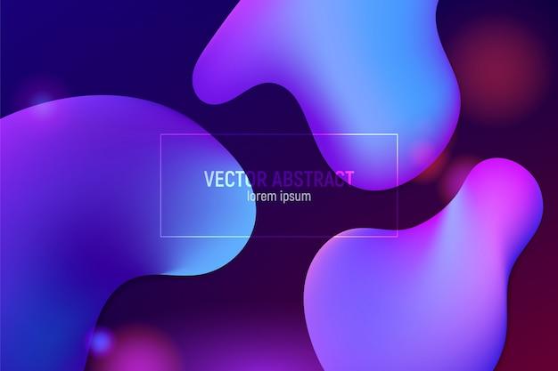 Flüssiges farbhintergrunddesign