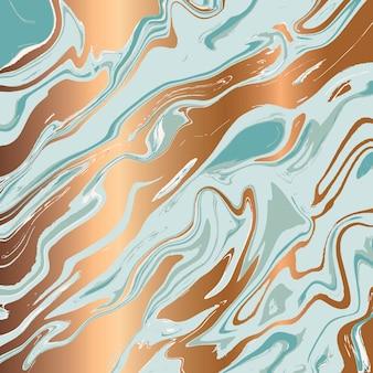 Flüssiges marmorbeschaffenheitsdesign, bunte marmorierungsoberfläche, goldene linien, vibrierendes abstraktes farbendesign