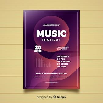 Flüssiges musikfestival-plakat