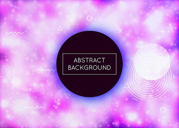 Flüssiges muster. bewegungspunkte. modernes design. runde grafik. minimalistische textur. lebendige flyer. lila lichtform. weicher perlmuttfarbener hintergrund. blaues flüssiges muster