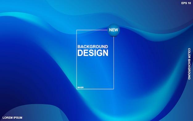 Flüssiges thema des abstrakten hintergrundes mit blauer ozeanfarbe. modernes minimales eps 10