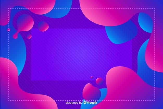 Flüssigkeit mit farbverlauf formt hintergrund