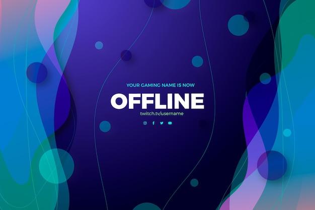 Flüssigkeitseffekt und punkte offline zucken