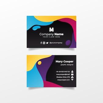 Flüssigkeitseffektdesign für visitenkarte