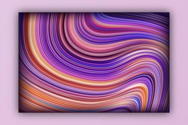 Flüssigkeitsverlauf mit schatten und lichteffekten mit glänzender designvorlage