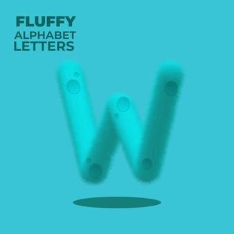 Fluffy gradient englisches alphabet buchstabe w