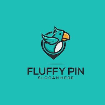 Fluffy-pin