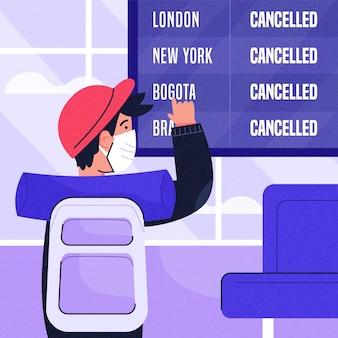 Flug mit mann abgesagt