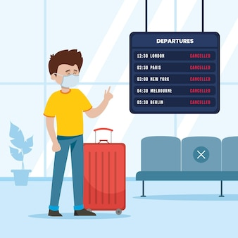 Flug mit passagier abgesagt