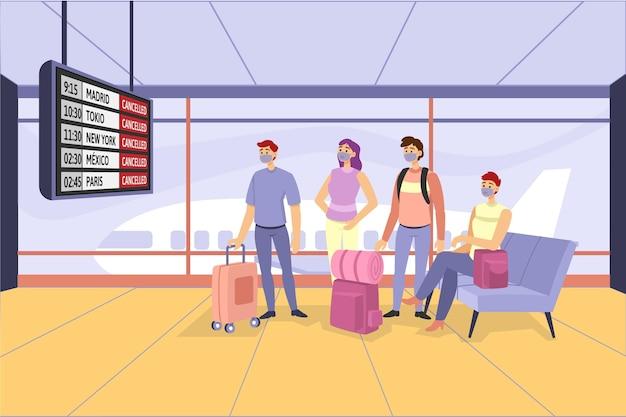 Flug mit passagieren abgesagt