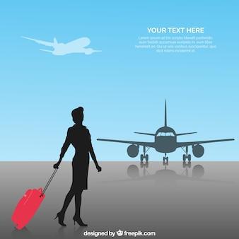 Flugbegleiter-hintergrund