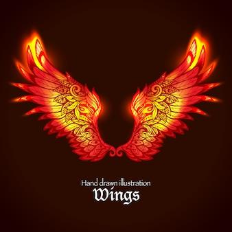 Flügel und Flamme