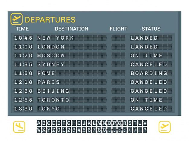 Flughafen-board-konzept
