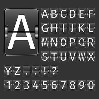 Flughafen bord alphabet