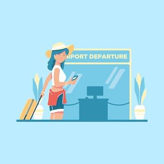 Flughafenreisekonzept illustration
