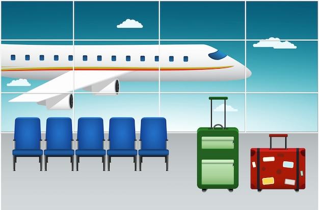 Flughafenterminal. ankunftsflug.