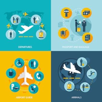 Flughafenterminal flugdienste