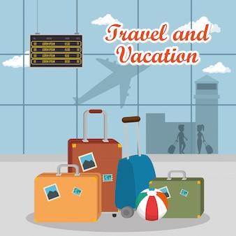 Flughafenterminal reiseszene