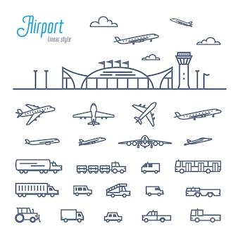 Flughafentransport-set
