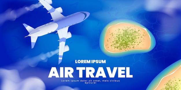 Flugreise hintergrund illustriert