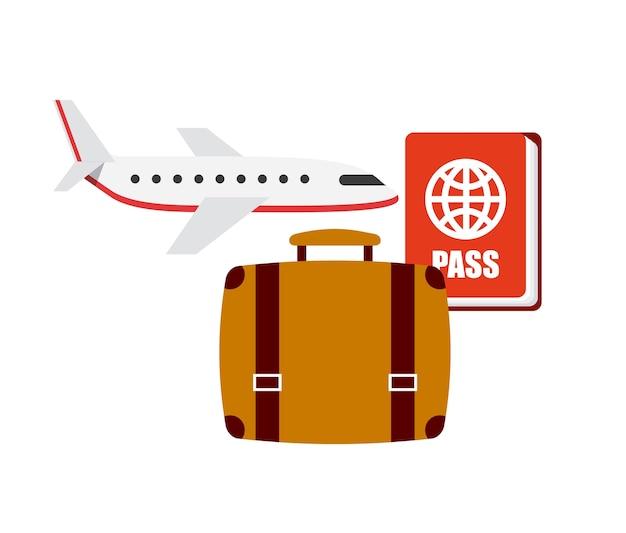 Flugreisen stellen icons ein