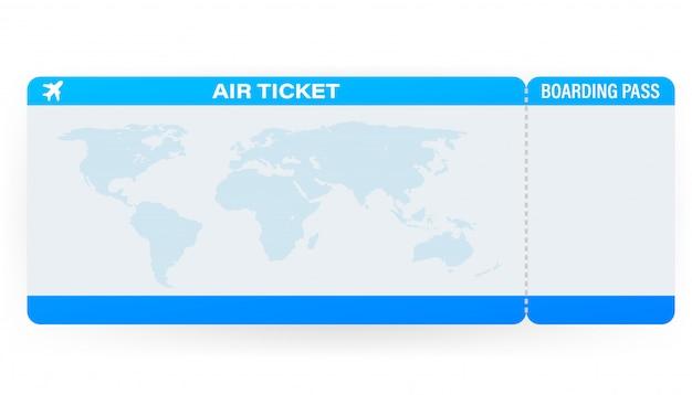 Flugtickets oder bordkarte innerhalb eines speziellen serviceumschlags. illustration.