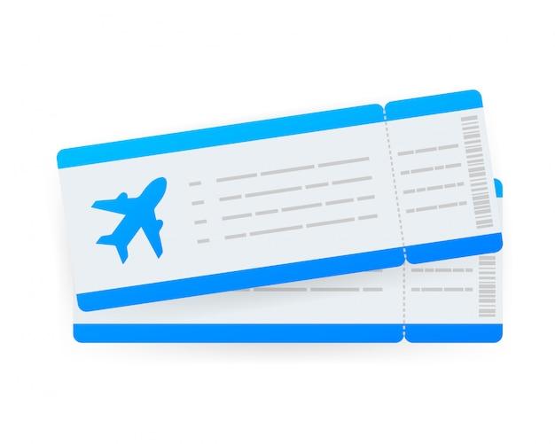 Flugtickets oder bordkarte innerhalb eines speziellen serviceumschlags.